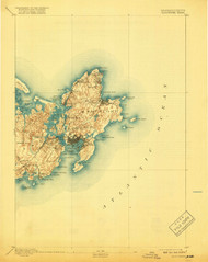 Gloucester, Massachusetts 1893 (1918) USGS Old Topo Map 15x15 Quad