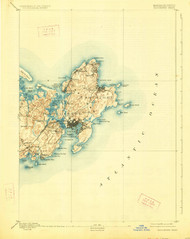 Gloucester, Massachusetts 1893 (1926) USGS Old Topo Map 15x15 Quad