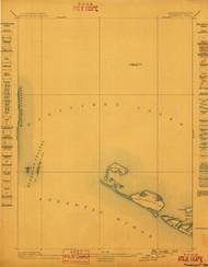 Muskeget, Massachusetts 1899 (1899) USGS Old Topo Map 15x15 Quad