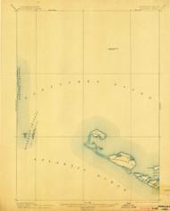 Muskeget, Massachusetts 1899 (1903) USGS Old Topo Map 15x15 Quad