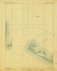 Muskeget, Massachusetts 1899 (1913) USGS Old Topo Map 15x15 Quad