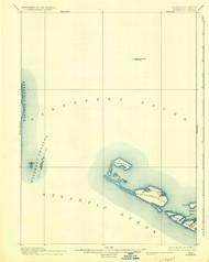 Muskeget, Massachusetts 1899 (1935) USGS Old Topo Map 15x15 Quad