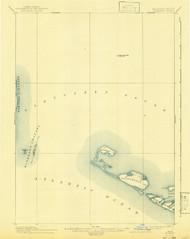 Muskeget, Massachusetts 1899 (1943) USGS Old Topo Map 15x15 Quad
