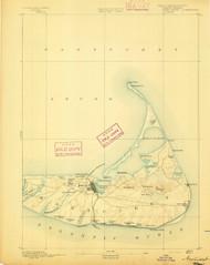 Nantucket, Massachusetts 1893 (1893) USGS Old Topo Map 15x15 Quad
