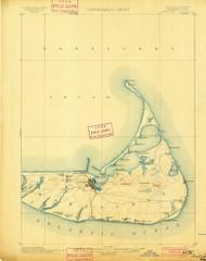 Nantucket, Massachusetts 1901 (1901) USGS Old Topo Map 15x15 Quad