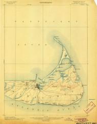 Nantucket, Massachusetts 1901 (1905) USGS Old Topo Map 15x15 Quad