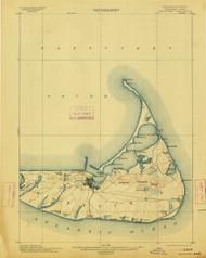 Nantucket, Massachusetts 1901 (1913) USGS Old Topo Map 15x15 Quad
