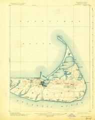 Nantucket, Massachusetts 1901 (1927) USGS Old Topo Map 15x15 Quad