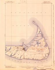 Nantucket, Massachusetts 1901 (1940) USGS Old Topo Map 15x15 Quad