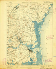 Newburyport, Massachusetts 1890 (1890) USGS Old Topo Map 15x15 Quad