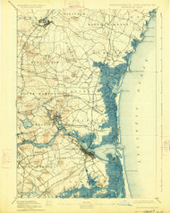 Newburyport, Massachusetts 1894 (1926) USGS Old Topo Map 15x15 Quad