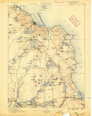 Plymouth, Massachusetts 1889 (1889) USGS Old Topo Map 15x15 Quad