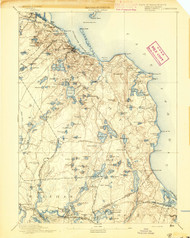 Plymouth, Massachusetts 1894 (1894) USGS Old Topo Map 15x15 Quad