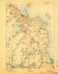 Plymouth, Massachusetts 1894 (1904) USGS Old Topo Map 15x15 Quad