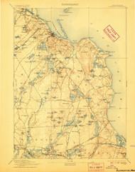 Plymouth, Massachusetts 1894 (1907) USGS Old Topo Map 15x15 Quad