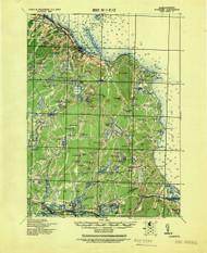 Plymouth, Massachusetts 1943 (1943) USGS Old Topo Map 15x15 Quad