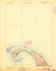 Provincetown, Massachusetts 1889 (1900) USGS Old Topo Map 15x15 Quad