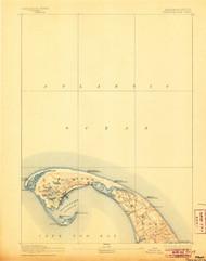 Provincetown, Massachusetts 1889 (1906) USGS Old Topo Map 15x15 Quad