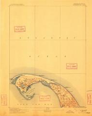 Provincetown, Massachusetts 1889 (1911) USGS Old Topo Map 15x15 Quad