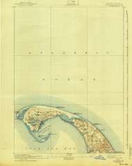 Provincetown, Massachusetts 1898 (1940) USGS Old Topo Map 15x15 Quad