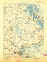 Salem, Massachusetts 1888 (1888) USGS Old Topo Map 15x15 Quad