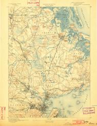 Salem, Massachusetts 1893 (1902) USGS Old Topo Map 15x15 Quad