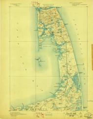 Wellfleet, Massachusetts 1893 (1898) USGS Old Topo Map 15x15 Quad