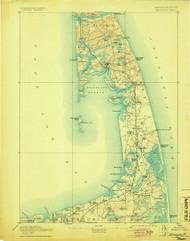 Wellfleet, Massachusetts 1893 (1905) USGS Old Topo Map 15x15 Quad