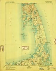 Wellfleet, Massachusetts 1893 (1910) USGS Old Topo Map 15x15 Quad
