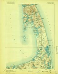 Wellfleet, Massachusetts 1893 (1918) USGS Old Topo Map 15x15 Quad