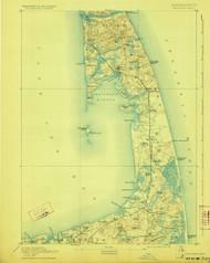 Wellfleet, Massachusetts 1893 (1923) USGS Old Topo Map 15x15 Quad