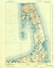 Wellfleet, Massachusetts 1893 (1942) USGS Old Topo Map 15x15 Quad