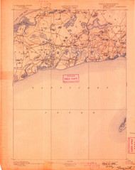 Yarmouth, Massachusetts 1893 (1898) USGS Old Topo Map 15x15 Quad