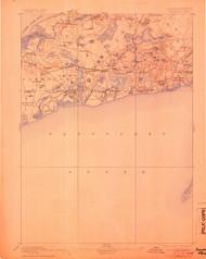 Yarmouth, Massachusetts 1893 (1905) USGS Old Topo Map 15x15 Quad
