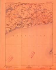 Yarmouth, Massachusetts 1893 (1912) USGS Old Topo Map 15x15 Quad