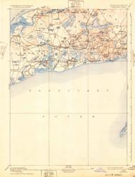 Yarmouth, Massachusetts 1893 (1932) USGS Old Topo Map 15x15 Quad
