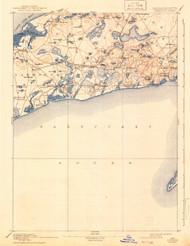 Yarmouth, Massachusetts 1893 (1942) USGS Old Topo Map 15x15 Quad