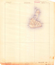 Block Island, Rhode Island 1889 (1889) USGS Old Topo Map 15x15 Quad