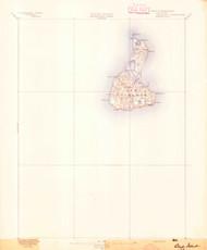 Block Island, Rhode Island 1894 (1894) USGS Old Topo Map 15x15 Quad