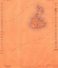 Block Island, Rhode Island 1899 (1899) USGS Old Topo Map 15x15 Quad