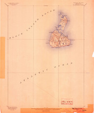 Block Island, Rhode Island 1899 (1903) USGS Old Topo Map 15x15 Quad