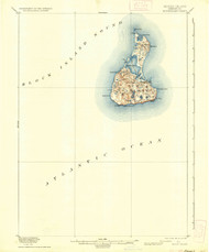 Block Island, Rhode Island 1899 (1936) USGS Old Topo Map 15x15 Quad