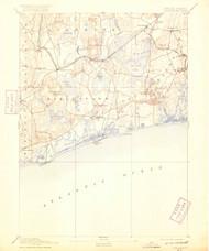 Charlestown, Rhode Island 1889 (1919) USGS Old Topo Map 15x15 Quad