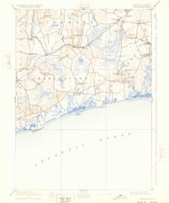 Charlestown, Rhode Island 1889 (1932) USGS Old Topo Map 15x15 Quad