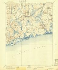 Charlestown, Rhode Island 1889 (1941) USGS Old Topo Map 15x15 Quad