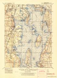 Narragansett Bay, Rhode Island 1919 (1921a) USGS Old Topo Map 15x15 Quad