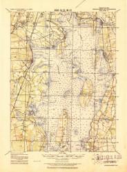 Narragansett Bay, Rhode Island 1919 (1921b) USGS Old Topo Map 15x15 Quad