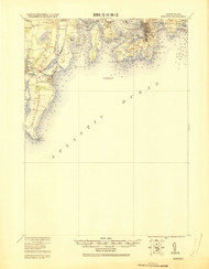 Newport, Rhode Island 1920 (1920) USGS Old Topo Map 15x15 Quad