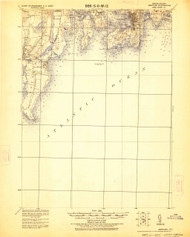 Newport, Rhode Island 1920 (1926) USGS Old Topo Map 15x15 Quad