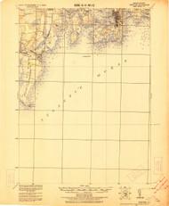 Newport, Rhode Island 1922 (1922) USGS Old Topo Map 15x15 Quad